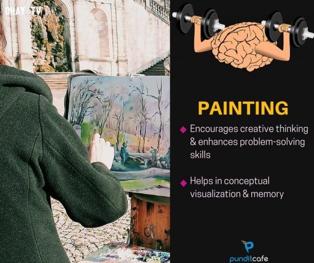 4. Vẽ,sở thích giúp rèn luyện não,rèn luyện não bộ,rèn luyện trí não,luyện tập trí não,luyện tập não bộ