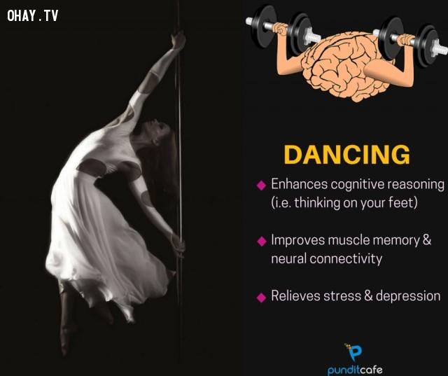 5. Khiêu vũ,sở thích giúp rèn luyện não,rèn luyện não bộ,rèn luyện trí não,luyện tập trí não,luyện tập não bộ