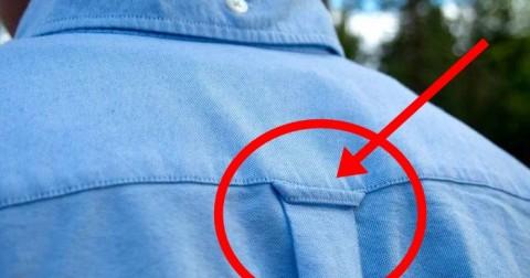Đây là lí do lưng áo sơ mi có một vòng nhỏ