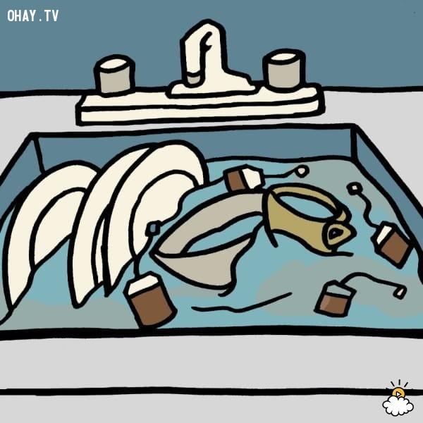 8. Làm sạch dầu mỡ,mẹo hay,tận dụng túi trà cũ