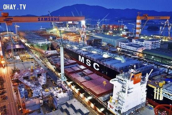 10. Samsung và các chi nhánh công ty của mình ở hầu khắp các quốc gia đã sản xuất ra 1/5 lượng hàng hóa xuất khẩu của toàn Hàn quốc,tập đoàn Samsung,công ty Samsung,tầm cỡ của Samsung
