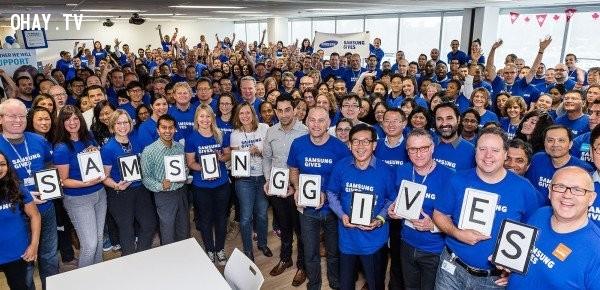 7. Nhân sự của tập đoàn Samsung khoảng gần 500.000 người trên khắp thế giới.,tập đoàn Samsung,công ty Samsung,tầm cỡ của Samsung