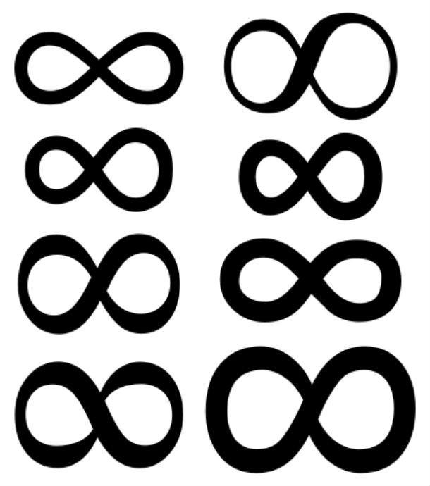 Các biểu tượng vô cực.,ý nghĩa biểu tượng,những điều thú vị trong cuộc sống,giải mã ký hiệu,giải mã biểu tượng