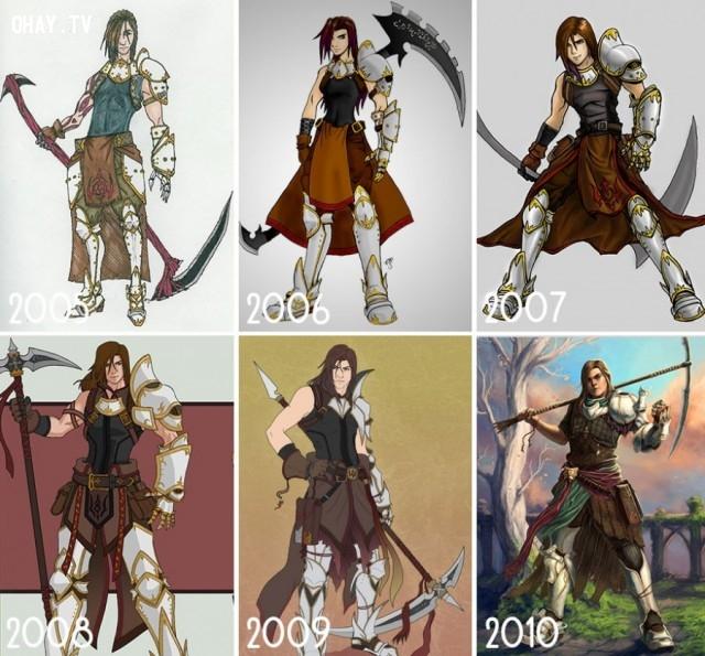 Sự tiến bộ hơn từ năm này qua năm khác,họa sĩ,bức tranh đẹp,sự kiên nhẫn