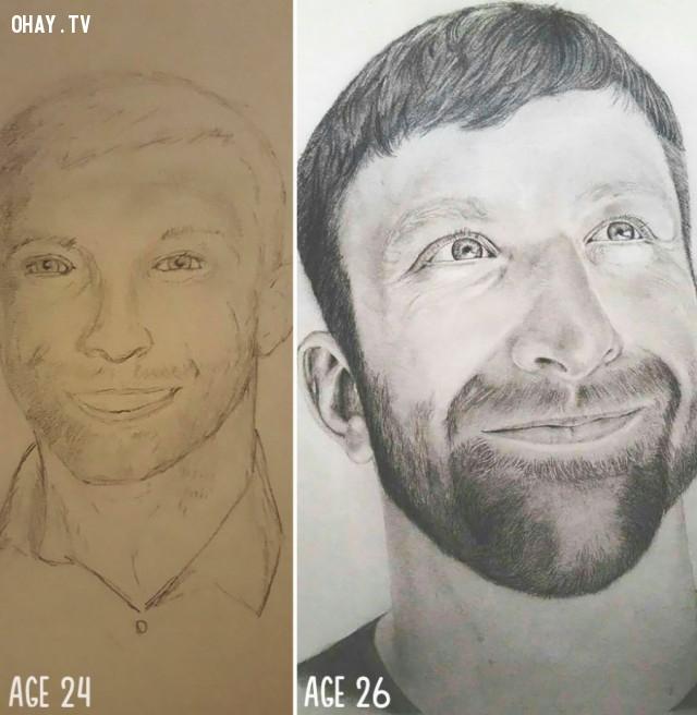 Chỉ 2 năm luyện tập,họa sĩ,bức tranh đẹp,sự kiên nhẫn