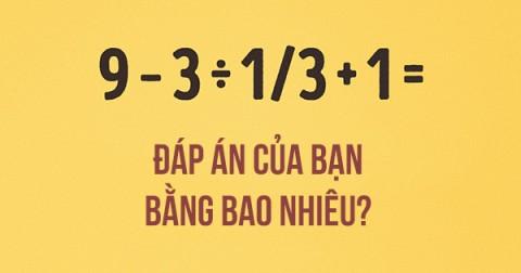 Bạn có thể giải đúng phép tính toán học này không?