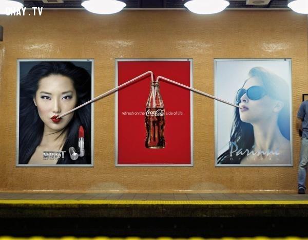 Ai thích cũng Co-ca Co-la.,biển quảng cáo sáng tạo,tổng hợp,những biển quảng cáo