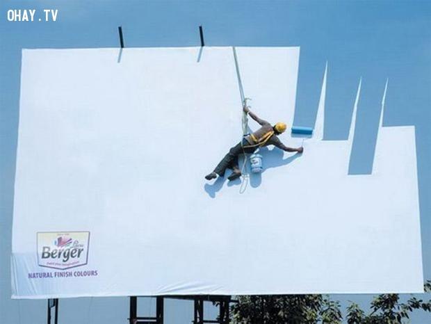 Đây là một ảo ảnh quang học tuyệt vời!,biển quảng cáo sáng tạo,tổng hợp,những biển quảng cáo
