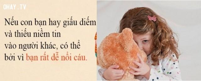 Con trẻ giấu diếm và thiếu niềm tin vào người khác.,thói xấu của trẻ,sai lầm của cha mẹ,phong cách sống