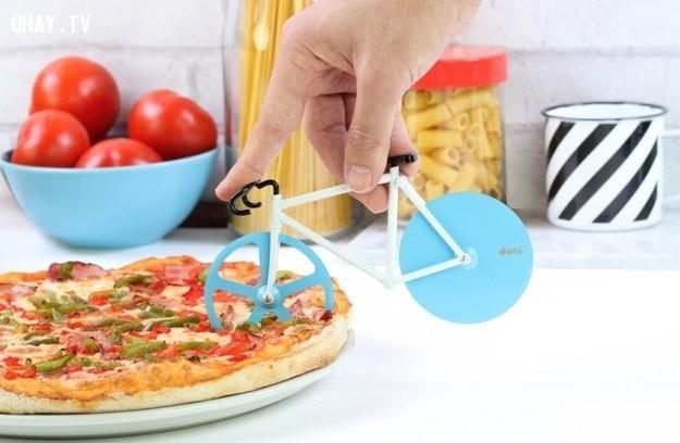 Xe đạp cắt bánh pizza,vật dụng hằng ngày,sáng tạo,dễ thương