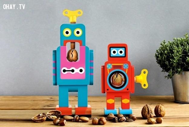Robot tách vỏ hạt,vật dụng hằng ngày,sáng tạo,dễ thương