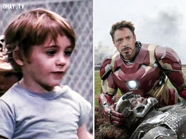 1. Robert Downey Jr. trong Pound (1970) và Captain America: Civil War (2016),diễn viên nổi tiếng,vai diễn debut