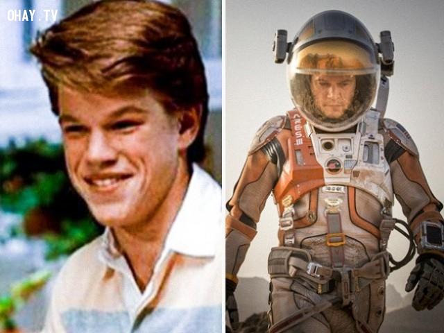 11. Matt Damon trong Mystic Pizza (1988) và The Martian (2015),diễn viên nổi tiếng,vai diễn debut