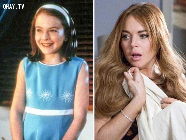 7. Lindsay Lohan trong The Parent Trap (1998) và The Canyons (2013),diễn viên nổi tiếng,vai diễn debut