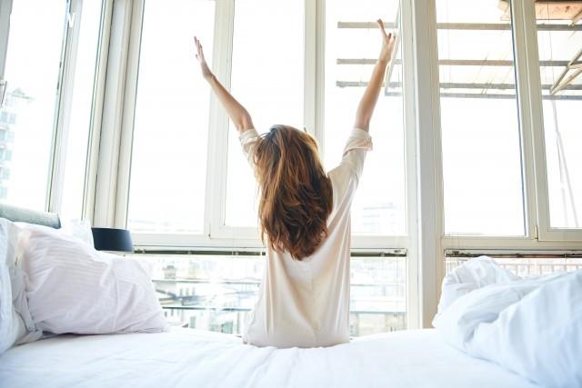 Vận động nhẹ nhàng,buổi sáng,thói quen tốt,thức dậy sớm,sức khỏe tốt