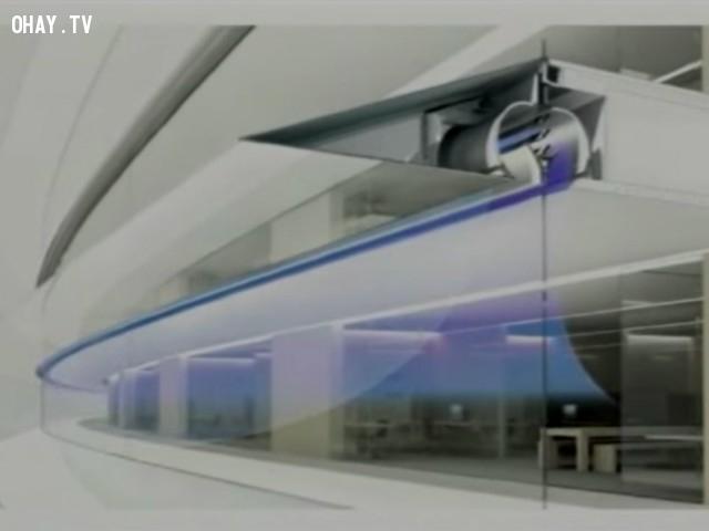 Một hệ thống thông gió tự nhiên được thiết kế sẽ giúp trụ sở hạn chế sử dụng máy lạnh hoặc hệ thống sưởi ấm để giảm khí thải nhà kính.,khám phá,trụ sở Apple Campus 2,trụ sở hình đĩa bay của Apple