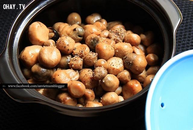 ,ẩm thực,món chay,nấm rơm kho tiêu,món ngon từ nấm,ngày mưa