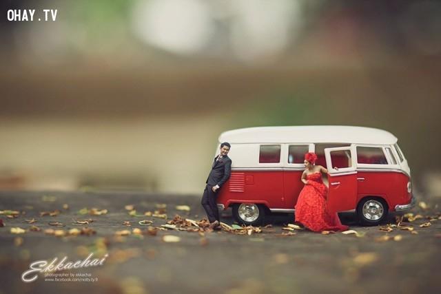 ,ảnh cưới tí hon,nhiếp ảnh gia,chụp ảnh đám cưới,Ekkachai Saelow,ảnh cưới đẹp,ảnh cưới độc đáo