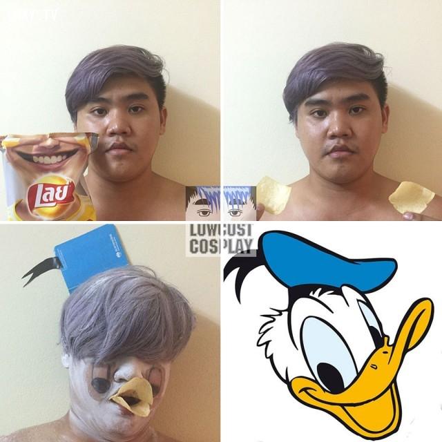 #9 Vịt Donald,ảnh hài,Cosplay hài hước,cosplay rẻ tiền,cười vỡ mồm,nghệ thuật cosplay