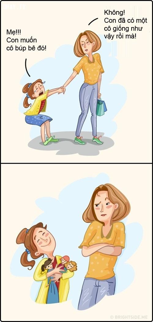 Các bậc cha mẹ thường bất lực trước những yêu cầu của con mình.,gia đình,chăm sóc con cái
