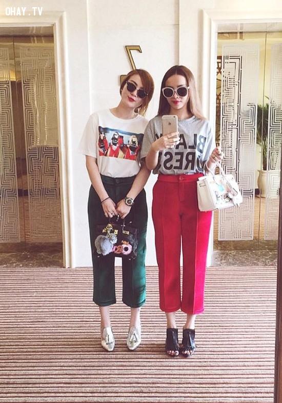 1. Độ dài phù hợp,quần ống rộng,quần ngố culottes,thời trang,cách phối đồ