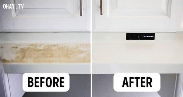 1. Làm sạch đồ nội thất trong bếp,mẹo nhà bếp,mẹo vặt