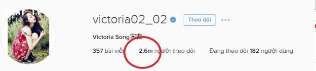 1. Tăng người theo dõi từ 2,5 triệu người lên 2,6 triệu người ,Victoria Song
