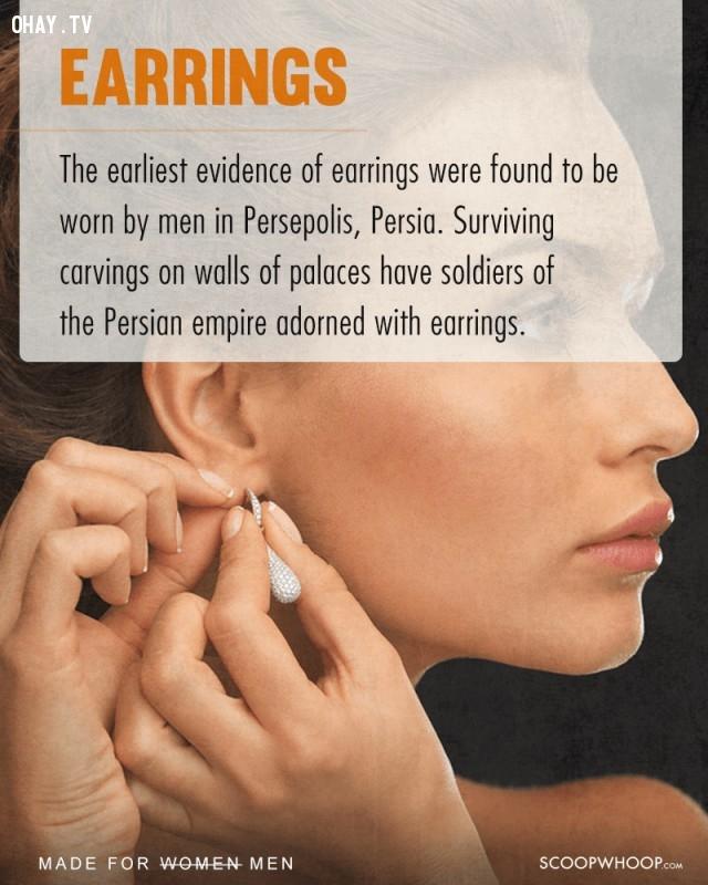 4. Khuyên tai,phụ nữ,nam giới,nguồn gốc sự vật,vật dụng của phụ nữ