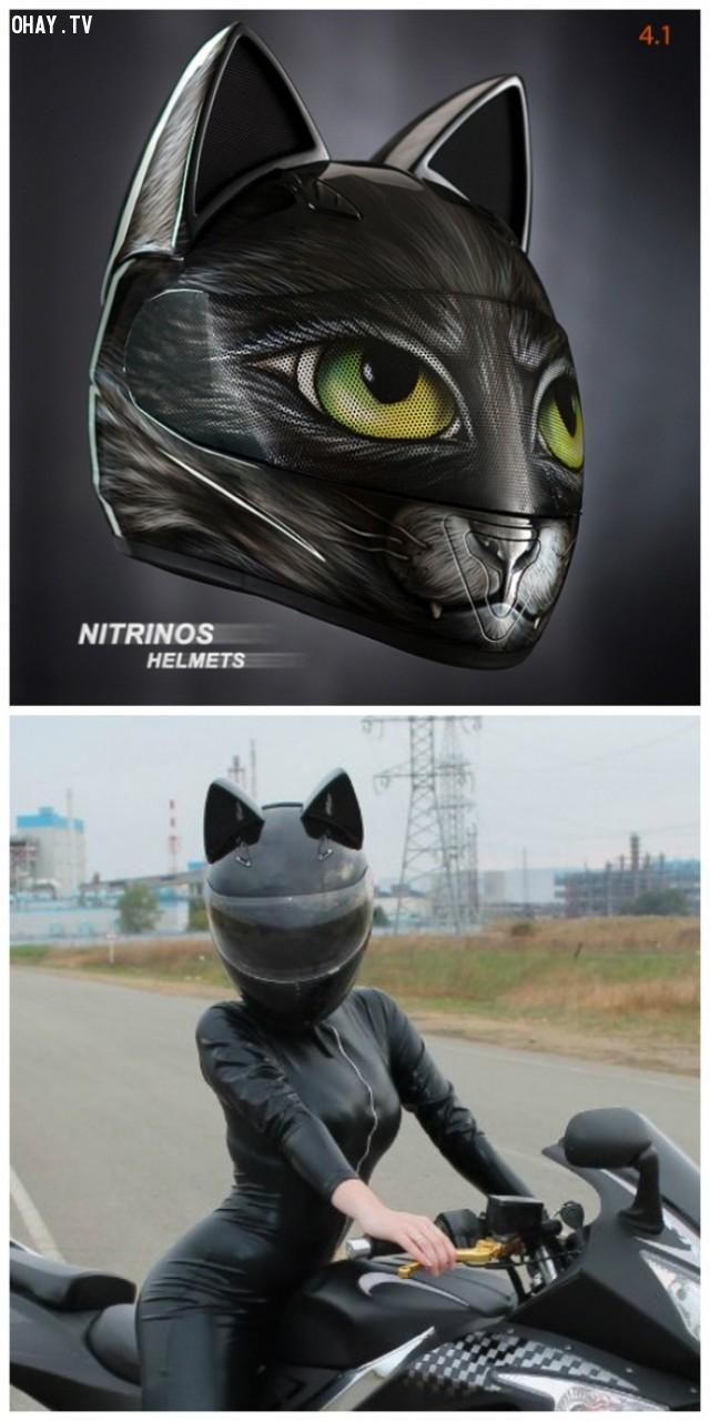 Mũ bảo hiểm tai mèo,