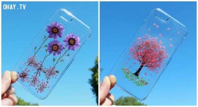 Ốp điện thoại hoa 3D ,