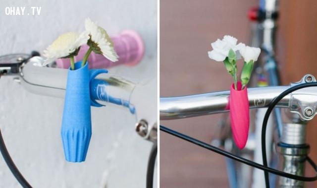 Giỏ hoa xe đạp,