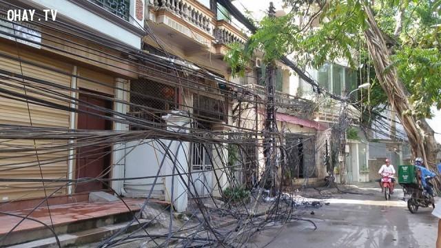 ,cháy dây điện tại Hoàng Quốc Việt