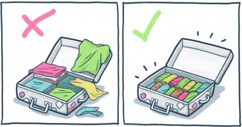 10 mẹo đơn giản khiến hành lý trở nên gọn gàng đến bất ngờ