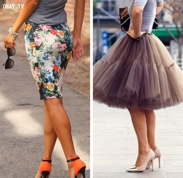 Chọn váy bút chì và váy tulle- chiếc váy quyến rũ chưa khi nào lỗi mốt,#thời_trang #mẹo #,#làm_đẹp