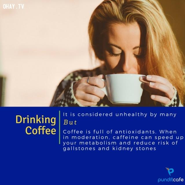 8. Uống cà phê,thói quen xấu,khám phá,thói quen xấu có lợi,tăng tốc độ trao đổi chất