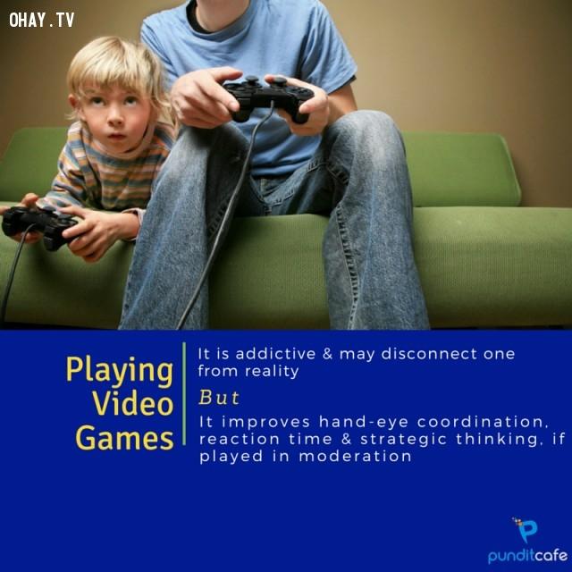 1. Chơi trò chơi điện tử,thói quen xấu,khám phá,thói quen xấu có lợi,tăng tốc độ trao đổi chất