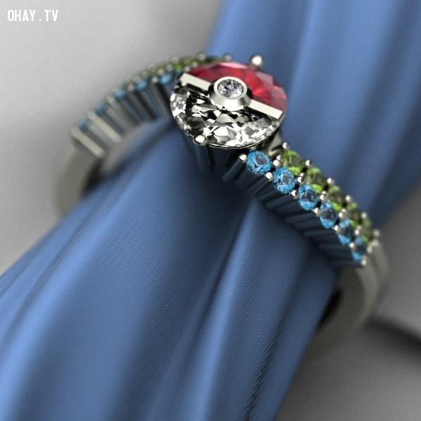 Thiết kế chiếc nhẫn đính hôn theo phong cách Pokémon một cách độc đáo nhất,pokemon go,ý tưởng đám cưới,tổ chức đám cưới