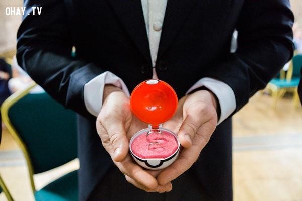 Giữ nhẫn cưới của bạn trong Pokéball,pokemon go,ý tưởng đám cưới,tổ chức đám cưới