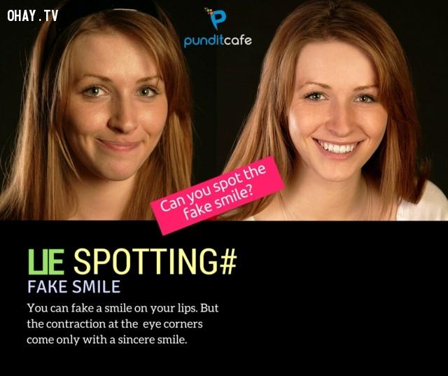 1. Nụ cười giả tạo,dấu hiệu nhận biết,kẻ nói dối,NGƯỜI NÓI DỐI,bắt thóp kẻ nói dối,mẹo vặt,ngôn ngữ cơ thể