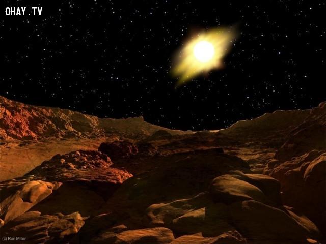 Ánh sáng mặt trời trên sao Thủy.,mặt trời chiếu sáng,ron miller,ánh mặt trời trên hành tinh khác