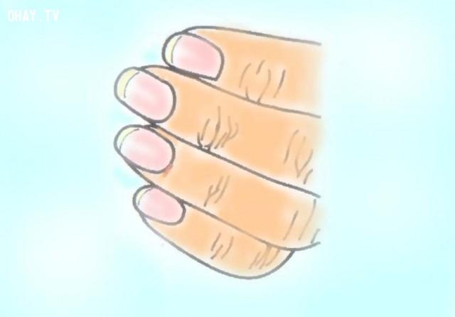 1. Móng tay dài bằng 1/2 đốt tay có móng và màu sắc tươi,hình dáng móng tay,tính cách,năng lực,móng tay,nhân tướng học