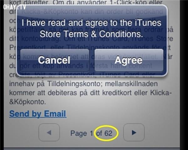 Khi đăng kí tài khoản, cập nhật hệ điều hành… tui biết tui xạo 100% khi chọn ngay vào câu:,câu nói dối
