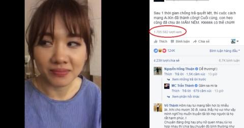 Hari Won mếu máo sau khi ăn mắm nêm thu hút hơn 2,7 triệu lượt xem