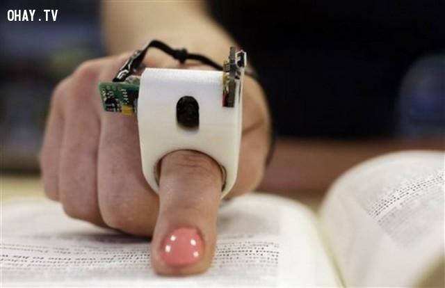 FingerReader - thiết bị đọc chữ dành cho người khiếm thị,sáng tạo,những điều thú vị trong cuộc sống,sản phẩm độc đáo,phát minh tương lai