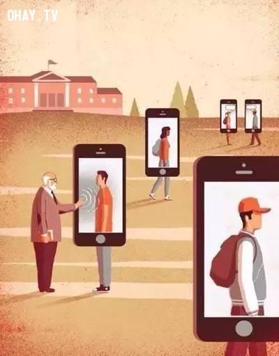 7. Khi chúng ta đã quen với việc giao tiếp với người chỉ bằng chiếc điện thoại, thì những con người chân thực mà bạn chạm tới là gì?,xã hội,hiện thực cuộc sống,suy ngẫm,hiện thực xã hội