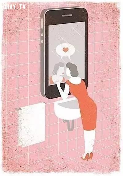 """4. Điện thoại thay gương, trở thành công cụ lý tưởng thể hiện sự """"tự sướng"""" của bạn.,xã hội,hiện thực cuộc sống,suy ngẫm,hiện thực xã hội"""