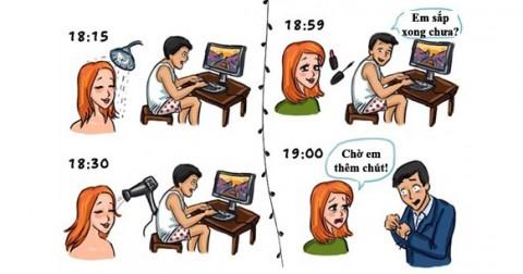 Bộ ảnh hài hước cho thấy sự khác biệt giữa nam và nữ