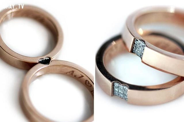 2 trong 1: Mảnh ghép hoàn hảo và khắc tên của cô dâu và chú rể ở mặt trong chiếc nhẫn,Bộ sưu tập nhẫn cưới,nhẫn cưới đẹp,chuẩn bị cho hôn lễ,nhẫn cặp đẹp,tổ chức hôn lễ