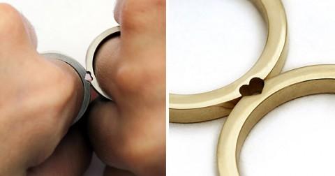 Bộ sưu tập nhẫn cưới 'Nhập thành một' khi kết hợp với nhau