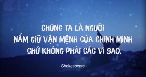 10 câu nói bất hủ của William Shakespeare